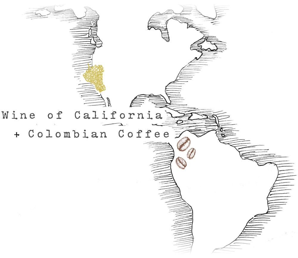 Wine of California + Colombian Coffee