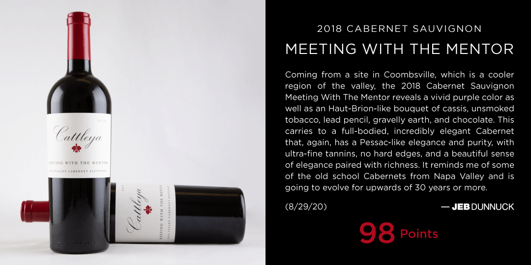 Jeb Dunnuck 98 Points for Cattleya 2018 Cabernet Sauvignon